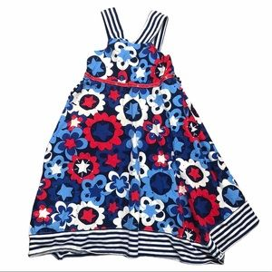 Dollie & Me Stars and Floral Tank Top Dress - SZ 6
